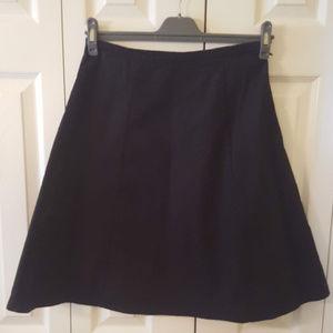 GAP Black Cotton A-Line Skirt  0009